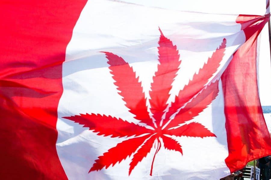 Canadian Cannabis Flag