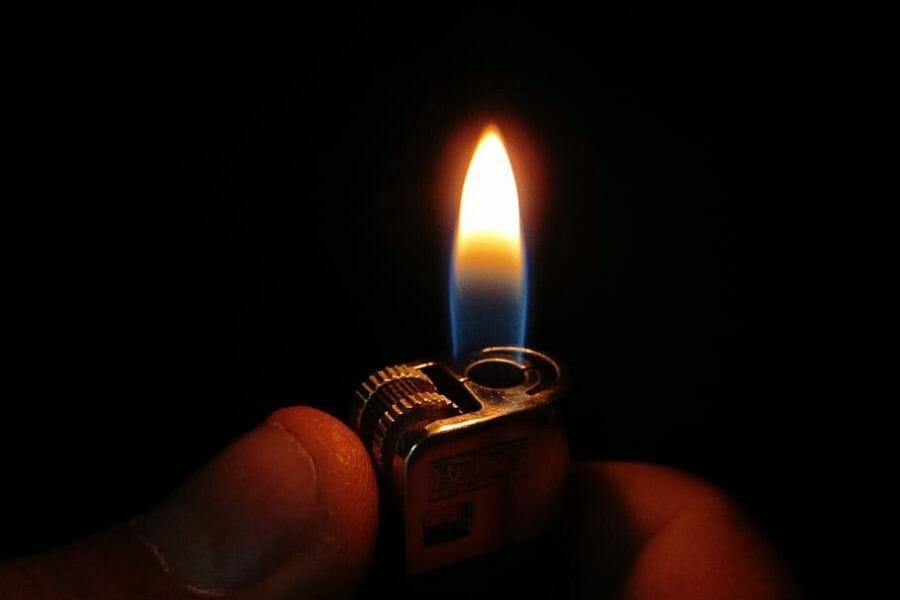 Lit Lighter In Dark
