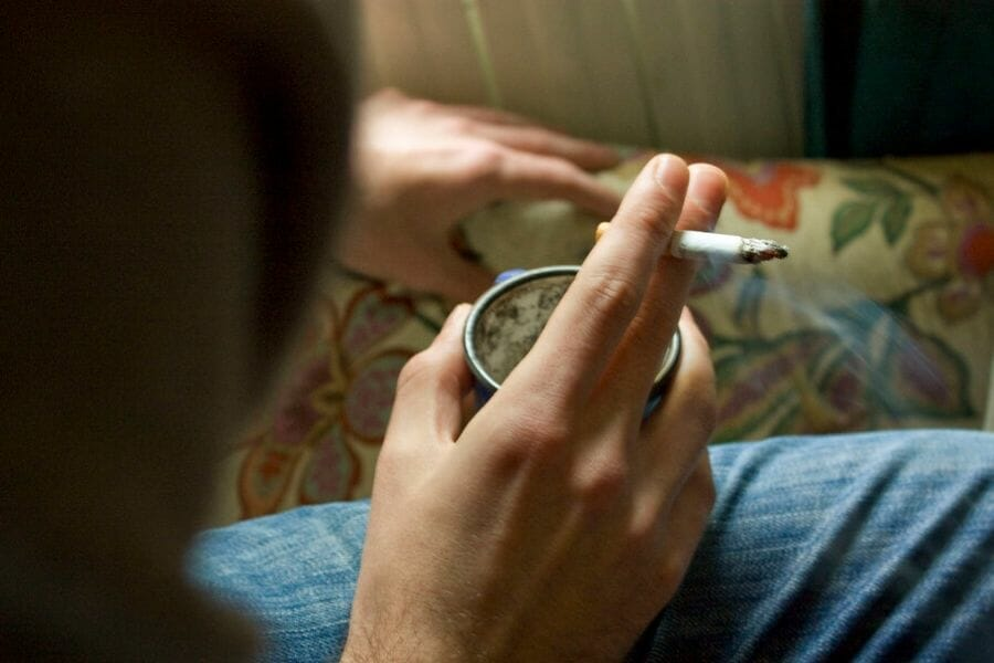 Enjoying cannabis at home